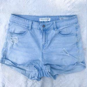 Bullhead light denim shorts